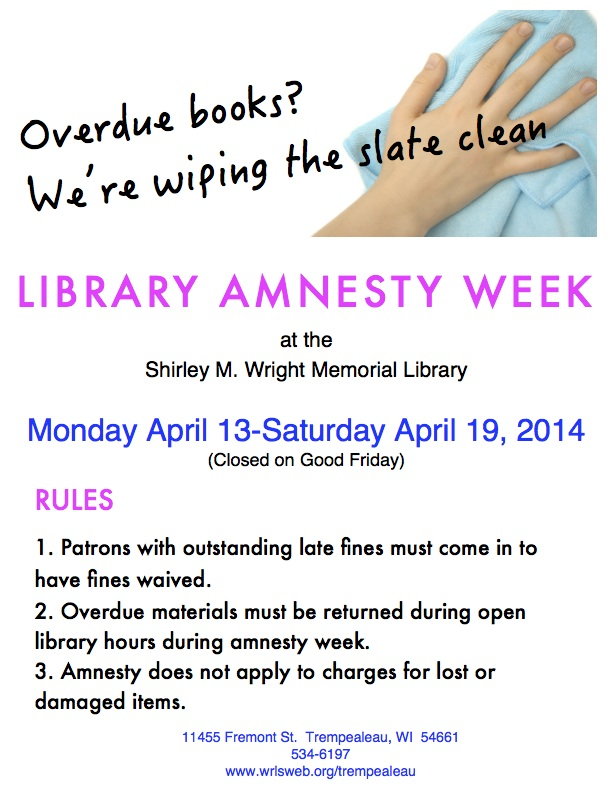 Library Amnesty Week