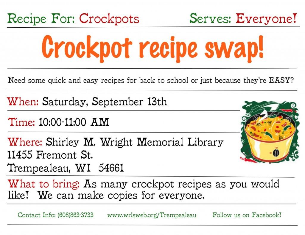Crockpot Recipe Swap