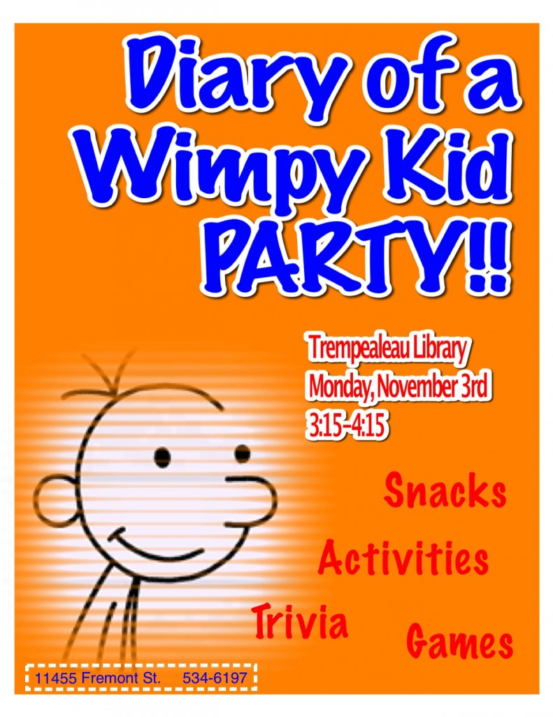 Diary of a Wimpy kid party poster