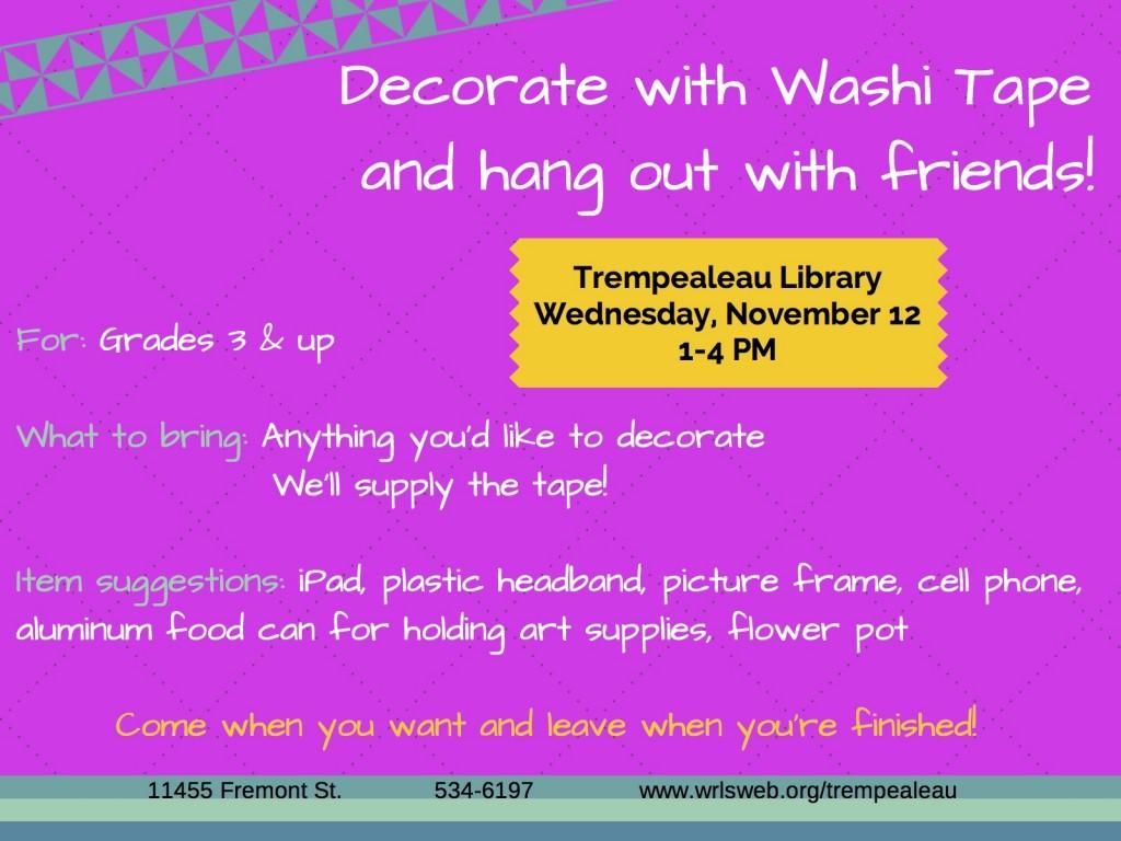 Washi Tape Decorating